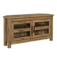 Forest Gate 44-Inch Logan Traditional Wood Corner TV Media Stand Storage Console in Brown