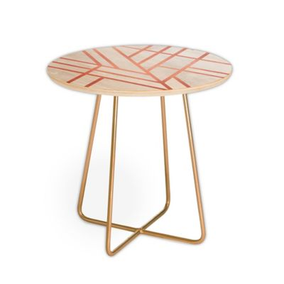 Deny Designs Elisabeth Fredriksson Deco Rose Round Side Table In Pink