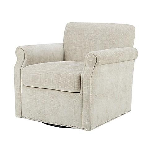 Madison Park Aldrich Swivel Chair In Cream Bed Bath Amp Beyond