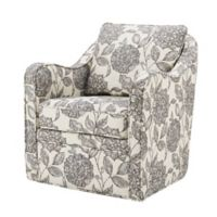 Madison Park Brianne Swivel Chair in Beige