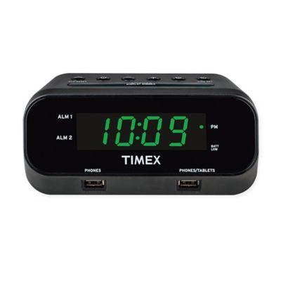 alarm clock with dual alarms unique alarm clock. Black Bedroom Furniture Sets. Home Design Ideas