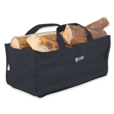 classic accessories jumbo log carrier in black - Firewood Carrier