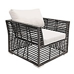 Panama Jack Graphite Outdoor Lounge Chair in Grey