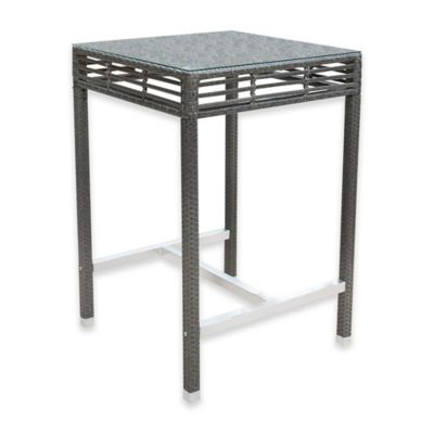 Panama Jack Graphite Outdoor Square Pub Table In Grey