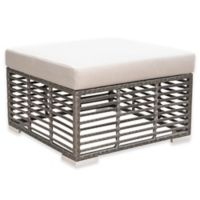 Panama Jack® Graphite Patio Ottoman in Grey