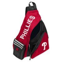MLB Philadelphia Phillies Leadoff Sling Backpack in Red/Black