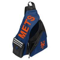 MLB New York Mets Leadoff Sling Backpack in Royal Blue/Black
