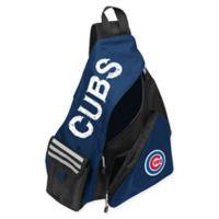 MLB Chicago Cubs Leadoff Sling Backpack in Royal Blue/Black
