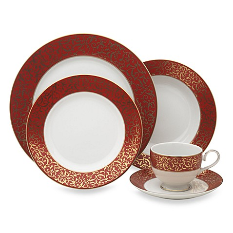 Mikasa Parchment Red 40-Piece Dinnerware Set  sc 1 st  Bed Bath u0026 Beyond & Mikasa Parchment Red 40-Piece Dinnerware Set - Bed Bath u0026 Beyond