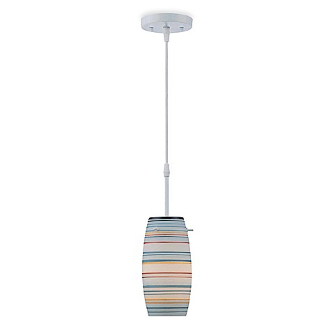 Lite Source Levande Pendant Lamp in Blue