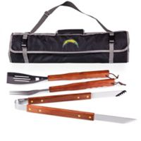 NFL Los Angeles Chargers BBQ Tote and Tool Set in Black
