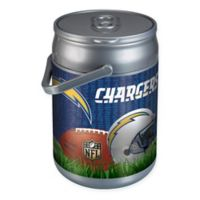 NFL Los Angeles Chargers Football Field Can-Shaped Cooler in Brown