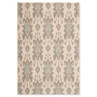 Safavieh Courtyard 2-Foot 7-Inch x 5-Foot Karter Indoor/Outdoor Rug in Dark Beige/Aqua