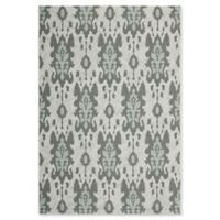 Safavieh Courtyard 6-Foot 7-Inch x 9-Foot 6-Inch Karter Indoor/Outdoor Rug in Anthracite/Aqua