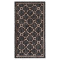 Safavieh Courtyard 2-Foot 7-Inch x 5-Foot Sky Indoor/Outdoor Rug in Natural/Black