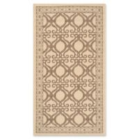 Safavieh Courtyard 2-Foot 7-Inch x 5-Foot Hope Indoor/Outdoor Rug in Natural/Brown