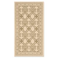Safavieh Courtyard 2-Foot 7-Inch x 5-Foot Hope Indoor/Outdoor Rug in Natural/Olive