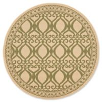 Safavieh Courtyard 5-Foot 3-Inch x 5-Foot 3-Inch Hope Indoor/Outdoor Rug in Natural/Olive