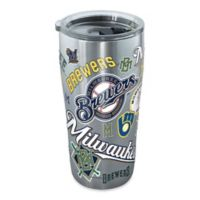 Tervis® MLB Milwaukee Brewers All Over 20 oz. Stainless Steel Tumbler with Lid