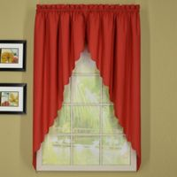 Today's Curtain® Orleans Rod Pocket Window Swagger Pair in Brick Red