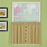 Today's Curtain Orleans 36-Inch Rod Pocket Scallop Window Curtain Tier Pair in Linen