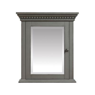 azzuri hastings mirror cabinet in french grey