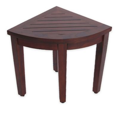 Oasis  Solid Teak Corner Shower Stool with Shelf. Buy Shower Stool from Bed Bath   Beyond