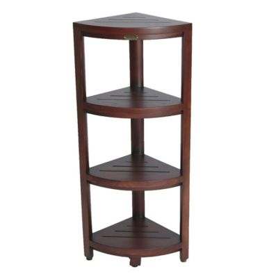 Oasis™ Solid Teak 4 Tier Corner Shelf