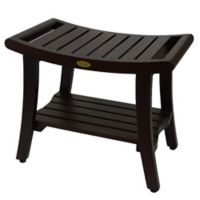 Harmony™ 24-Inch Teak Bench with Shelf and LiftAide™ Arms