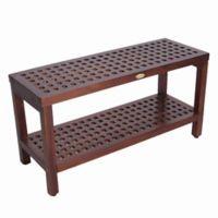 Espalier™ 35-Inch Lattice Teak Shower Bench