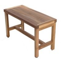 EcoDecors® EarthyTeak Serenity 24-Inch Bench with Shelf