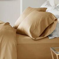 Madison Park 600-Thread-Count Cotton Queen Sheet Set in Gold
