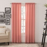 Pairs to Go™ Teller 84-Inch Rod Pocket Window Curtain Panel Pair in Blush