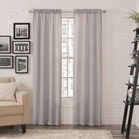 Pairs to Go™ Teller 84-Inch Rod Pocket Window Curtain Panel Pair in Light Grey