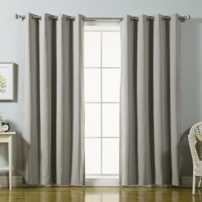 Decorinnovation Solid Cotton Blend 84 Inch Blackout Window Curtain Panel  Pair In Grey
