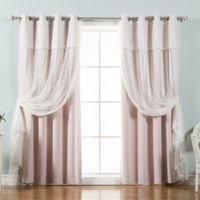 Decorinnovation Mix & Match Dimanche 96-Inch Blackout Window Curtain Panel Pair in Baby Pink
