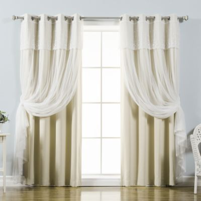 Perfect Decorinnovation Mix U0026 Match Dimanche 84 Inch Blackout Window Curtain Panel  Pair In Beige