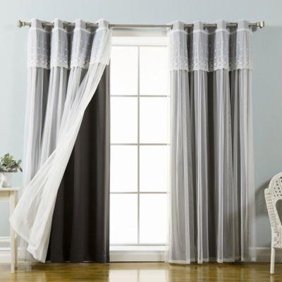 Marvelous Decorinnovation Mix U0026 Match Dimanche 96 Inch Blackout Window Curtain Panel  Pair In Black