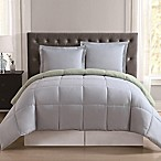 Truly Soft Everyday Reversible King Comforter Set in Light Blue/Sage