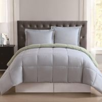 Truly Soft Everyday Reversible XL Twin Comforter Set in Light Blue/Sage