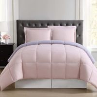 Truly Soft Everyday Reversible XL Twin Comforter Set in Blush/Lavender