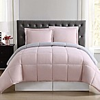 Truly Soft Everyday Reversible XL Twin Comforter Set in Blush/Silver Grey