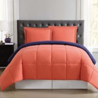 Truly Soft Everyday Reversible XL Twin Comforter Set in Orange/Navy