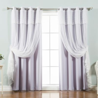 Decorinnovation Mix U0026 Match Dimanche 96 Inch Blackout Window Curtain Panel  Pair In Lilac