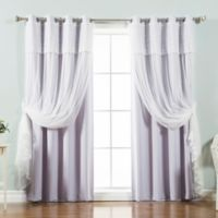 Decorinnovation Mix & Match Dimanche 96-Inch Blackout Window Curtain Panel Pair in Lilac
