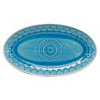 Euro Ceramica Fez Oval Platter in Turquoise