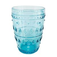Euro Ceramica Fez Highball Glasses in Turquoise (Set of 4)