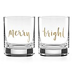 kate spade new york Oh What Fun Double Old Fashioned Glasses (Set of 2)