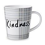 "ED Ellen DeGeneres Crafted by Royal Doulton® ""Kindness"" Plaid Mug in Grey"