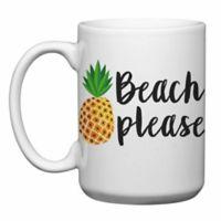 """Love You a Latte Shop """"Beach Please"""" Mug in White"""